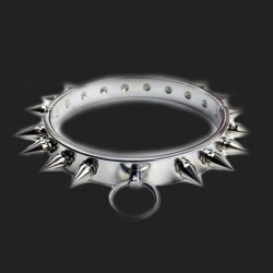 bdsm Unisex Jewelry stainless steel necklace with sturdy spikes