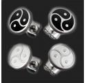 1 Paar Edelstahl Ohrringe