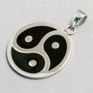 "Stainless steel pendant ""BDSM Triskel"""