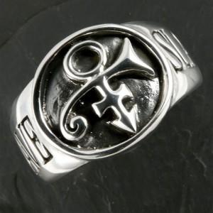 argento principe anello con sigillo schiavo gioielli bdsm