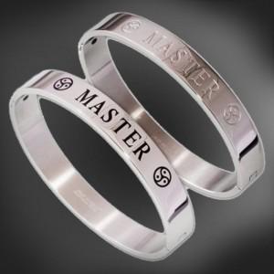 bdsm bijoux Bracelet en acier inoxydable - Master dominant