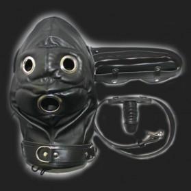 BDSM Sturmhaube Total Lockdown schwarz