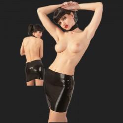 Látex-mini falda negro