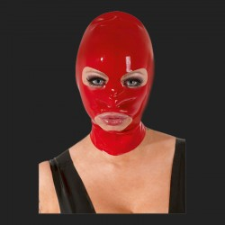 bdsm Masque en latex rouge