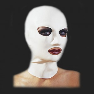 bdsm Latex masque blanc