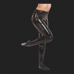 Leggings sexy noir en latex.