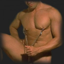 man nipple clamp and cock-ring