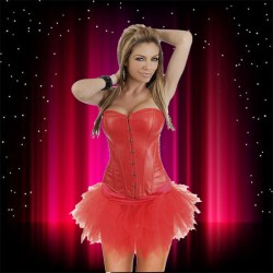 corset with skirt