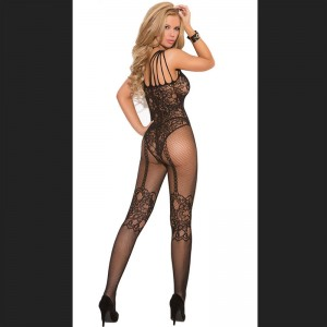 Black Bodystocking Bodysuit