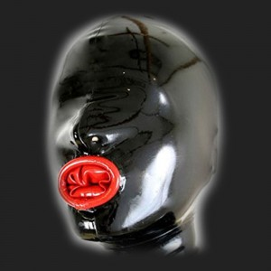 Máscaras de látex fetiche servidumbre del pene condom