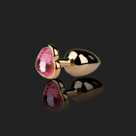 Rosebud Jewelry heart Gold/Pink
