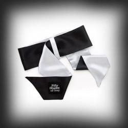 cinquante nuances de limites souples gris poignet luxe cravate