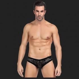 Sexy Höschen aus schwarzer Spitze für Männer