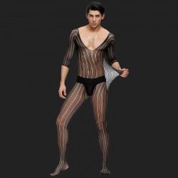 Body en dentelle noire pour hommes