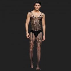 Floralmotiv Maschen-Bodystrümpfe für Männer