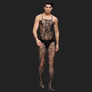 Résille florale Bodystocking pour hommes