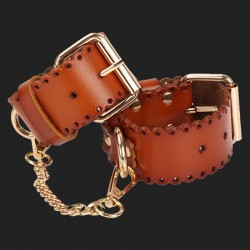 Faux leather handcuffs