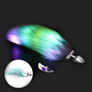 Luminous fox tail anal plug