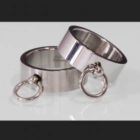 Ring of O polished & matte silver stainless steel