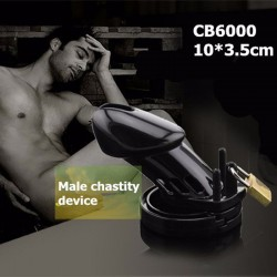 CB6000 black Cage Chastity for Men