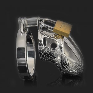 man steel chastity cage dragon totem