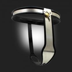 bondage cinturón de castidad femenina modelo Modelo-T ajustable exclusivo de acero inoxidable