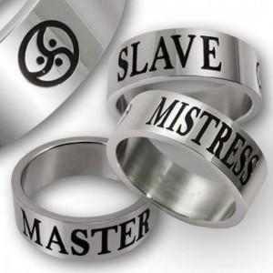 anello in acciaio inox - Master - Slave-amante BDSM Triskel
