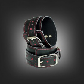 Black and red handcuffs