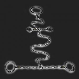 BDSM cadena de restricción de lujo de acero inoxidable cuello de la muñeca-tobillo