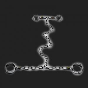 bdsm Restriction chaine luxe en acier inoxydable poignets-chevilles